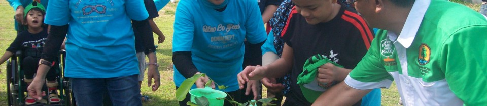 Anak – anak Autis Memperingati Hari Lingkungan Hidup  Sedunia