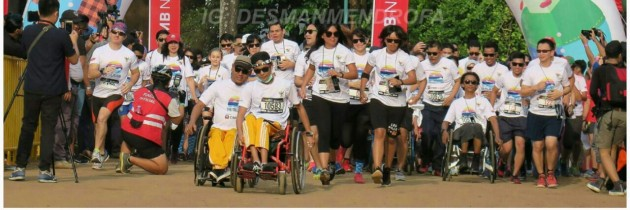 PARTISIPASI PENYANDANG DISABILITAS di CIMB COLOR RUN – 5 KM  di GELORA BUNG KARNO – JAKARTA